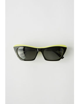 Two Tone Sunglasses Black Yellow/Black by Acne Studios