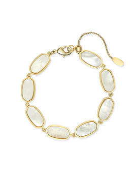 Millie Gold Link Bracelet In Ivory Pearl by Kendra Scott