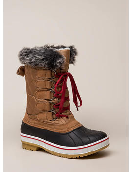 Just Fur Fun Lace Up Duck Boots by Go Jane