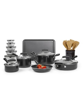 Essential Home 25 Pc. Nonstick Cookware Set – Black Essential Home 25 Pc. Nonstick Cookware Set – Black by Kmart
