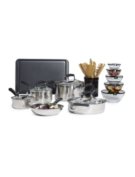 Essential Home 25 Pc. Stainless Steel Mega Cookware Set Essential Home 25 Pc. Stainless Steel Mega Cookware Set by Kmart