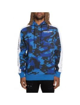 The Off Season Pullover Hoodie In Blue Camo by Dope