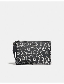 Small Wristlet With Anemone Print by Coach