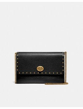 Marlow Turnlock Chain Crossbody In Signature Leather With Rivets by Coach