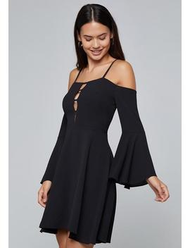 Strappy Plunge Dress by Bebe