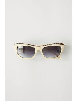 Zweifarbige Sonnenbrille Leoparden Elfenbein/Degradiertes Grau by Acne Studios