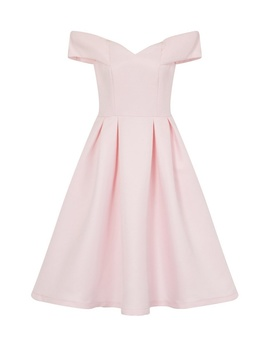 *Chi Chi London Pink Petite Bardot Midi Dress by Dorothy Perkins