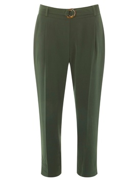 Petite Khaki Crepe Trousers by Dorothy Perkins