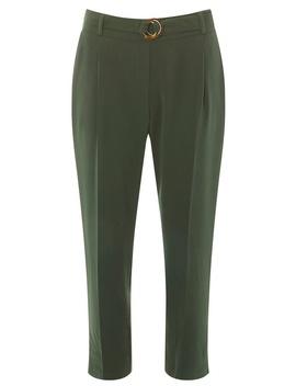 Petite Khaki Crepe Trousers by Dorothy Perkins