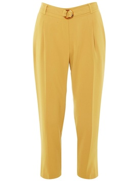 Petite Yellow Crepe Trousers by Dorothy Perkins