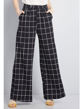 Polished Example Wide Leg Pants by Modcloth