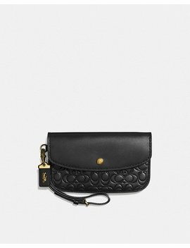 Clutch In Signature Leather by Coach
