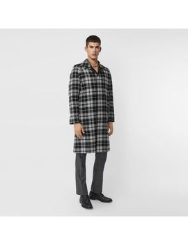 Reversible Wool Cashmere And Cotton Car Coat by Burberry
