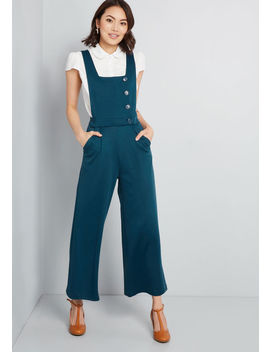 Belief In Buttons Knit Jumpsuit by Modcloth