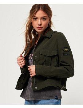 Military Crop Jacket by Superdry