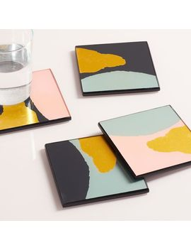 Gold Foil Coasters (Set Of 4) by West Elm