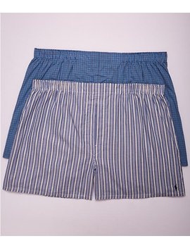 Classic Big &Amp; Tall Cotton Woven Boxers 2 Pack by Polo Ralph Lauren