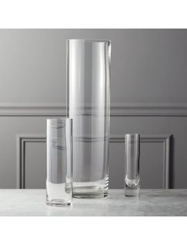 Clear Cylinder Vases by Crate&Barrel