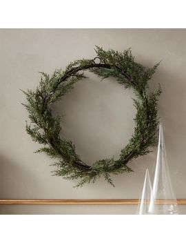 "Faux Cedar Wreath 18"" by Crate&Barrel"