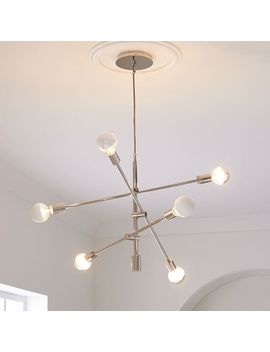 Mobile Chandelier, Polished Nickel by West Elm