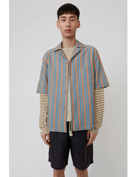 Striped Shirt Brown/Turqouise by Acne Studios