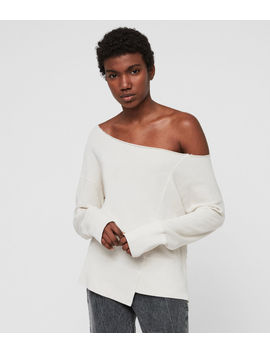 Lando Off Shoulder Sweatshirt by Allsaints