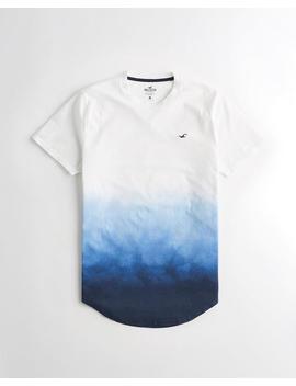 Ombré Curved Hem T Shirt by Hollister