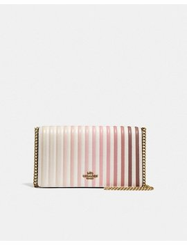 Callie Foldover Chain Clutch With Ombre Quilting by Coach