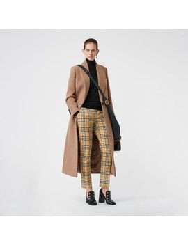 Vintage Check Wool Cigarette Trousers by Burberry