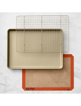 Williams Sonoma Goldtouch® Half Sheet Pan & Baking Mat Set by Williams   Sonoma