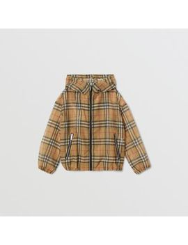 Lightweight Vintage Check Hooded Jacket by Burberry