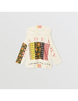 Graphic Floral Print Hoodie by Burberry