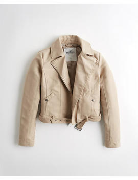 Faux Suede Biker Jacket by Hollister