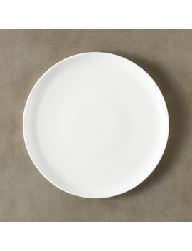 Contact White Dinner Plate by Crate&Barrel