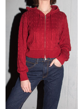 Crystal Knit Hoodie by Brandy Melville