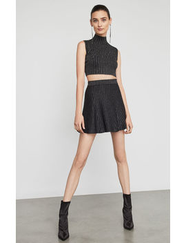 Metallic Stripe Flared Skirt by Bcbgmaxazria