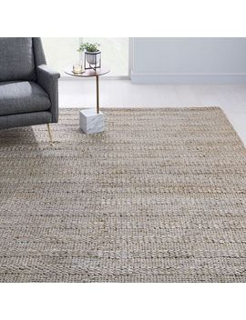 Grand Jute Rug   Natural Gray by West Elm