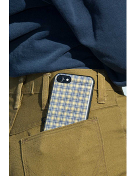 Yellow And Black Plaid I Phone Case by Brandy Melville