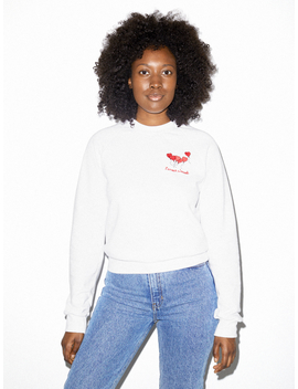 Unisex California Fleece Embroidered Raglan by American Apparel