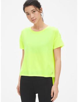 Gap Fit Breathe Short Sleeve Hi Lo Hem T Shirt by Gap