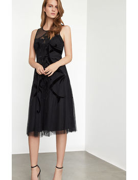 Velvet Applique Dress by Bcbgmaxazria
