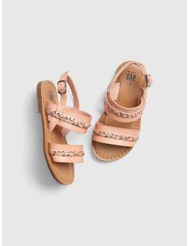Metallic Braided Sandals by Gap