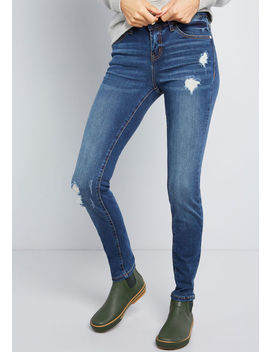 Get Out There Distressed Skinny Jeans by Modcloth