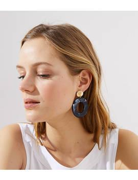Metallic Resin Drop Earrings by Loft