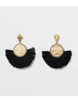 Pave Fringe Drop Earrings by Loft