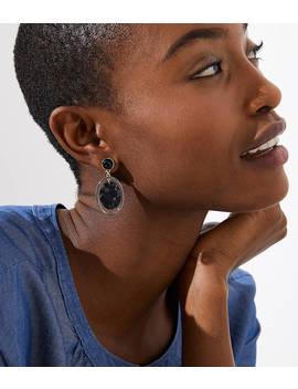 Marbleized Drop Earrings by Loft