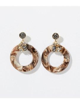 Gem Cluster Resin Drop Earrings by Loft