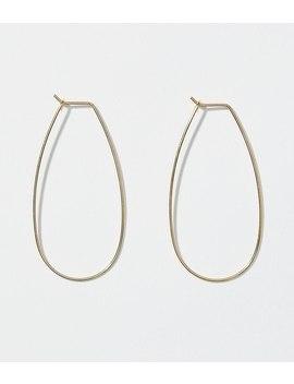 Pull Through Oval Hoop Earrings by Loft