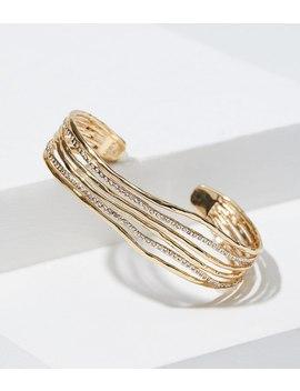 hammered-crystal-strand-cuff-bracelet by loft