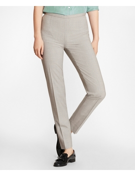 Stretch Wool Ankle Pants by Brooks Brothers